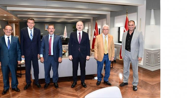 Ulaştırma ve Altyapı Bakanımız Sayın Adil KARAİSMAİLOĞLU Makamında Ziyaret Edildi